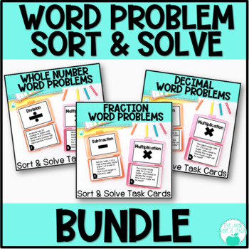 Word Problem Operations Sort & Solve ~BUNDLE~