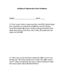 Word Problem Pack