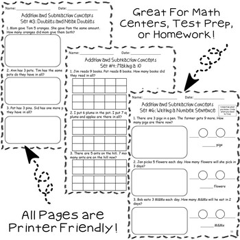 Word Problem Pack: Addition and Subtraction Concepts