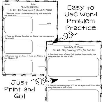 Word Problem Pack: Number Patterns