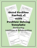Word Problem Packet #1 with Problem-Solving Template ft. Adding & Subtracting
