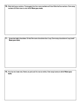 Word Problem Packet