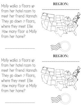 Word Problem Passports: Regions of the U.S.