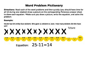 Word Problem Pictionary