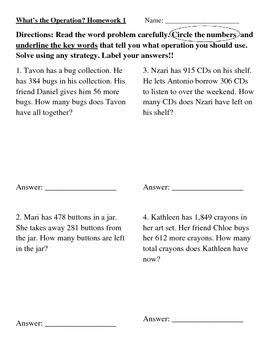 Word Problem Practice
