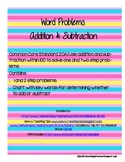 Word Problem Practice (Addition & Subtraction)