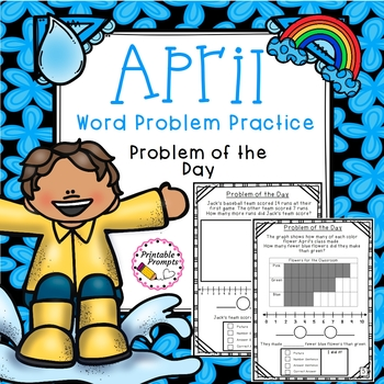 First Grade Word Problem Practice- April