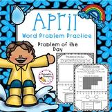 First Grade Word Problem Practice- April