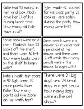 Word Problem Practice - Second Grade