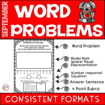 Word Problems -September
