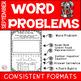 September Word Problem Math Journal First Grade