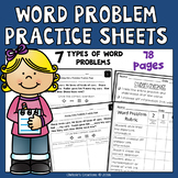 Word Problem Practice Sheets for Intervention: 7 problem types