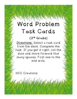 Word Problem Practice for Third Graders