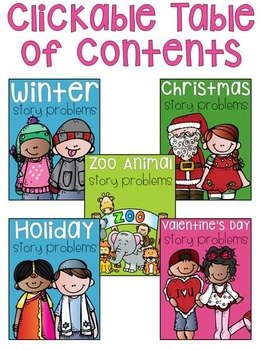 Christmas and Winter Word Problems