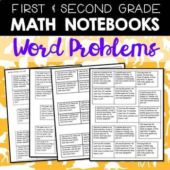 Math Journals: Word Problems for 1-2