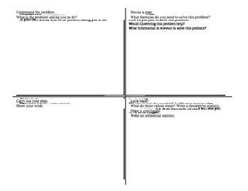 Word Problem, Problem Solving Graphic Organizer