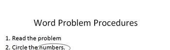 Word Problem Procedures