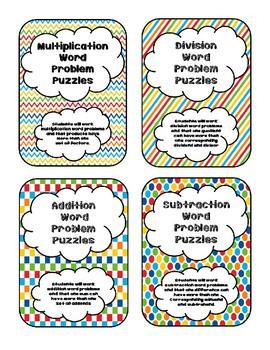 Word Problem Puzzles Bundle