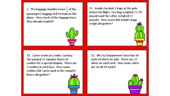 Word Problem Review