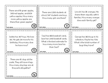 Word Problem Review Game
