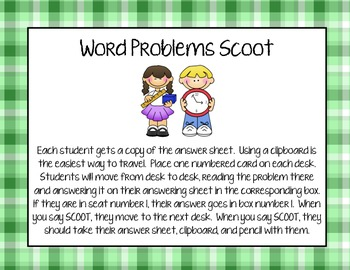 Word Problem Scoot