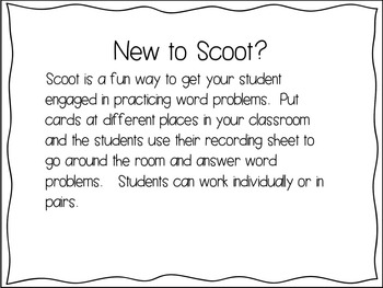 Word Problems Scoot / Word Problems / Addition to 20 / subtraction from 20