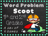 Word Problem Scoot - 1st and 2nd Grade Common Core