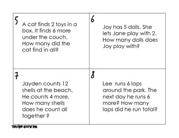 Word Problem Scoot {task cards}