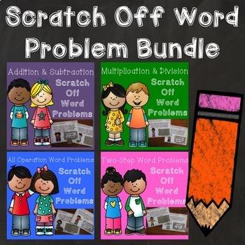 Word Problem Scratch Off Game Bundle