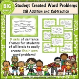 Student Created Addition and Subtraction CGI Task Cards Bundle