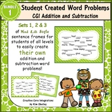 Word Problem Sentence Stem Started Frames CGI for Add-Subtract Set 1 Task Cards