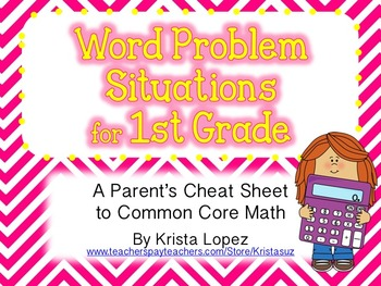 Word Problem Situations - 1st Grade