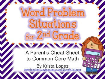 Word Problem Situations - 2nd Grade