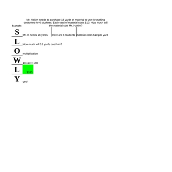 Word Problem Solution Strategy