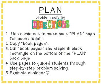 Word Problem Solving Guide – Step by Step Template for Students and Task Cards