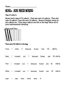 Word Problem Solving M&Ms