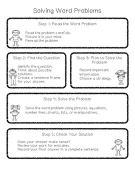 Word Problem Solving Sheet