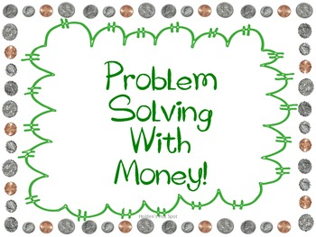 Word Problem Solving Task Cards with Money Without Regrouping