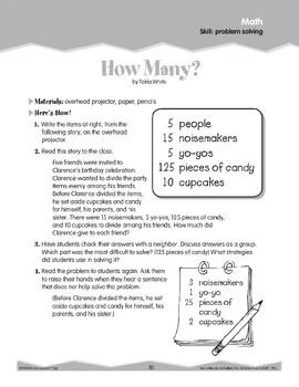 Word Problem Solving (Ten-Minute Activities)
