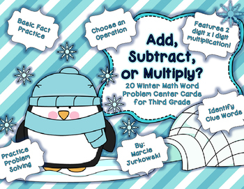 Word Problem Solving Third Grade Winter Edition Choose the Operation