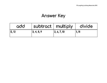 Word Problem Sort 2