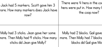 Word Problem Sorting Activity