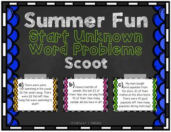 Word Problem (Start Unknown) Scoot