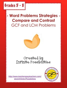 Word Problem Strategies Compare and Contrast GCF and LCM Problems