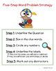 Five Step Word Problem Strategy Poster