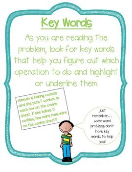 Word Problem Strategies Posters FREEBIE