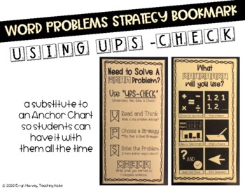 Word Problem Strategy Bookmark
