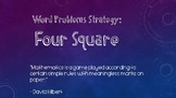 Word Problem Strategy: Four Square