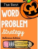 Word Problem Strategy - Halloween