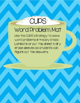 Word Problem Strategy Mat
